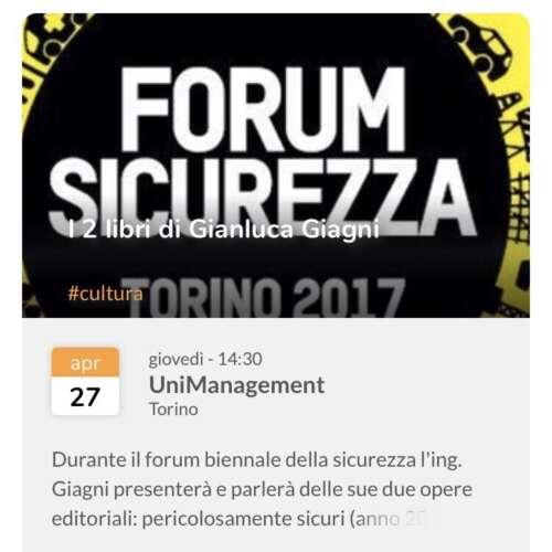 Torino, 26.04.2017 - Forum della sicurezza